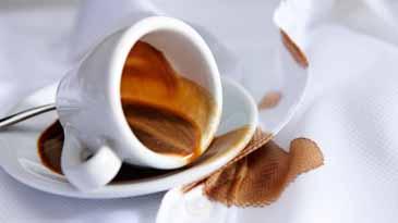 Чем удалить пятно от чая и кофе