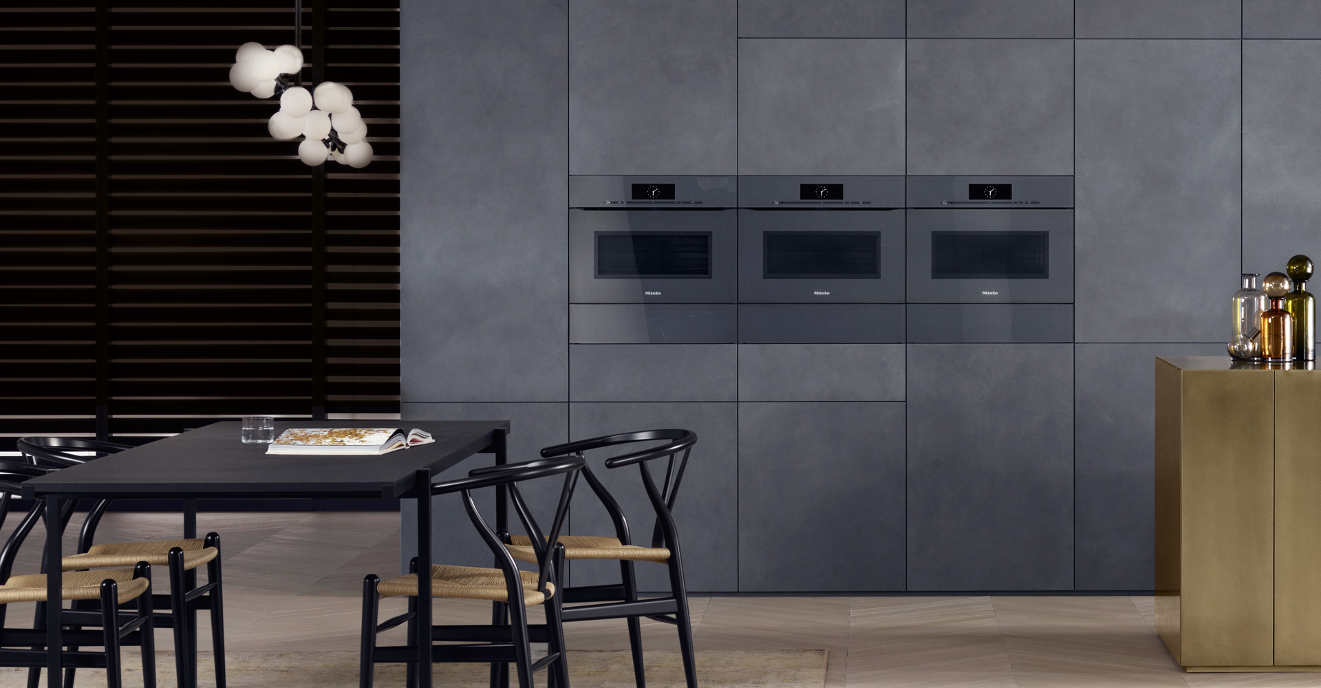 Artline built in appliances with touch2open miele for Miele kitchen designs