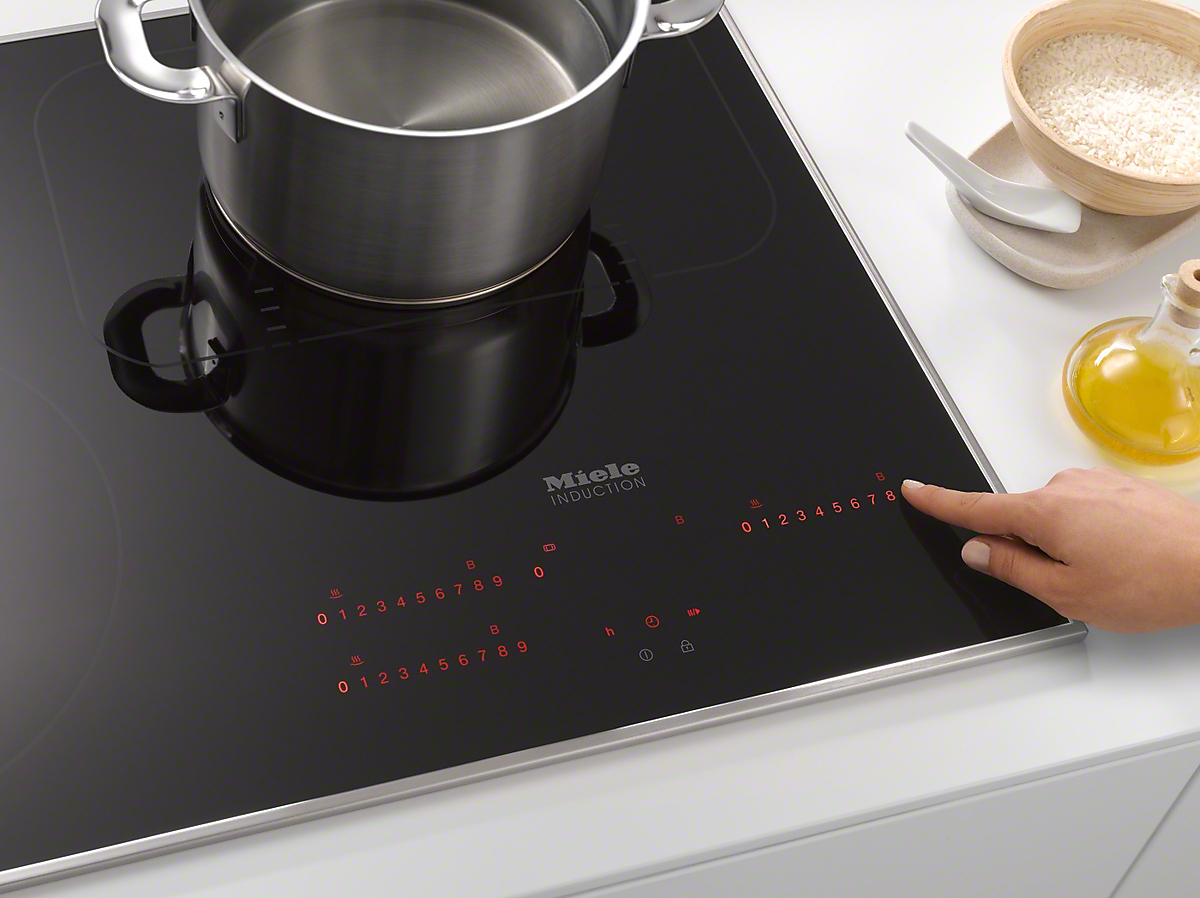 Miele km 6357 induction cooktop with onset controls for Induktionsherd miele