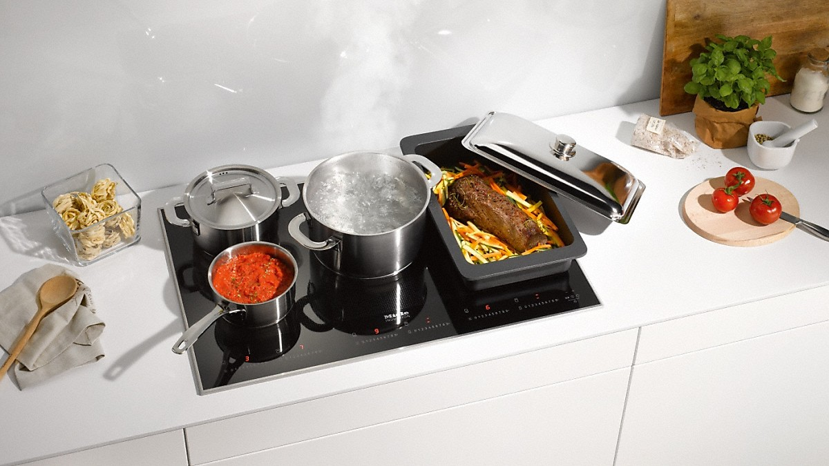 miele km 6366 1 induction cooktop with onset controls. Black Bedroom Furniture Sets. Home Design Ideas