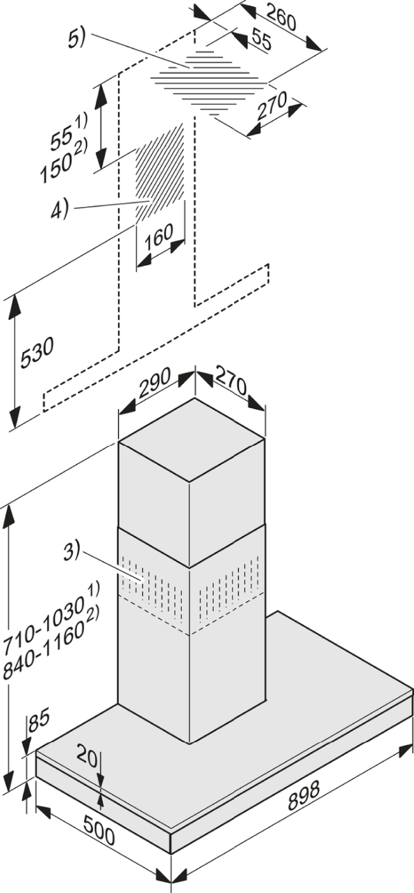 miele range hood installation instructions