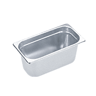 DGG 9 Unperforated steam cooking container