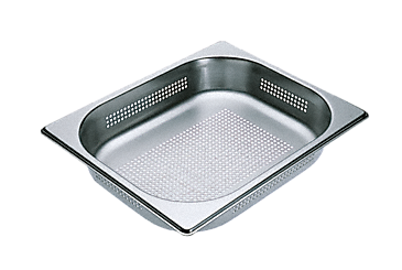 DGGL 4 - Perforated steam cooking containers For all DG steam ovens except DG 7000. --Stainless steel