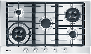 KM 2054 - Gas cooktop with 2 dual wok burners for extremely versatile cooking convenience.--NO_COLOR