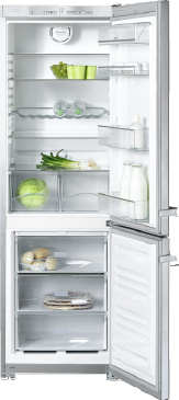 KFN 12823 SD edt/cs-1 - Freestanding fridge-freezer with convenient features such as Frost free--Stainless steel/CleanSteel
