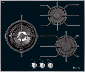 KM 3014 - Gas cooktop with 3 burners incl. dual wok for particularly versatile cooking convenience.--NO_COLOR