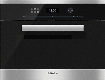 DG 6401 - Built-in steam oven Intuitive and easy to use with plain text display and touch control.--Stainless steel/CleanSteel