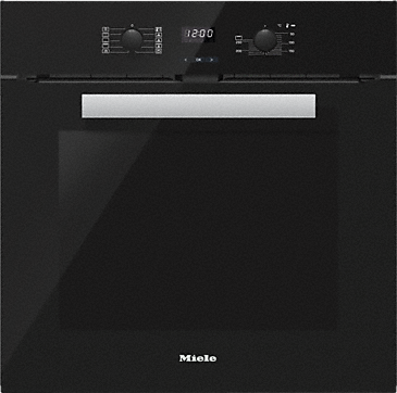 H 2661 BP - Ovens with pyrolytic cleaning for easy maintenance.--Obsidian black
