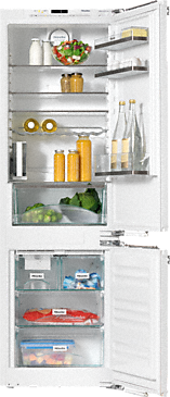 KFNS 37452 iDE - Built-in fridge-freezer combination with an individual touch thanks to FlexiLight glass shelf lighting and My Ice.--