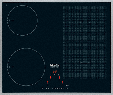KM 6304 - Induction cooktop with onset controls with PowerFlex cooking zone for maximum versatility and performance.--NO_COLOR
