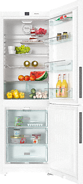 KFN 28032 D ws - Freestanding fridge-freezer with Frost free and Dynamic cooling for highest convenience and versatility.--White