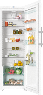 K 28202 D ws - Freestanding refrigerator with Dynamic cooling and lever handle for convenient side-by-side combination.--White