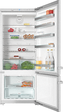 KFN 15842 D edt/cs - Freestanding fridge-freezer 75 cm wide for plenty of storage space.--Stainless steel
