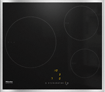 KM 7200 FR - Induction cooktop with onset controls with 3 round cooking zones at an attractive entry-level price--NO_COLOR
