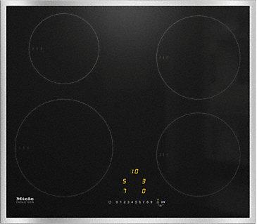 KM 7201 FR - Induction cooktop with onset controls with 4 round cooking zones at an attractive entry-level price--NO_COLOR