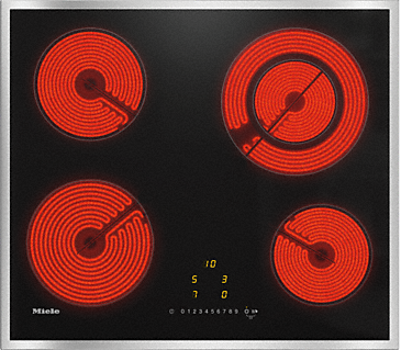 KM 6520 FR - Electric cooktop with onset controls with 4 cooking zones for maximum convenience.--NO_COLOR