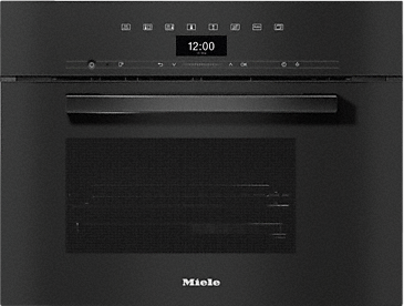 DG 7440 - Built-in steam oven for healthy cooking with automatic programmes, networking and sous-vide cooking.--Obsidian black