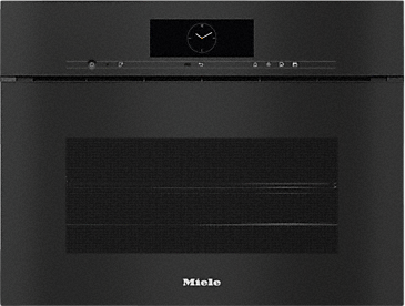 DGC 7845X - Handleless XL Steam combination oven with mains water and drain connection for steam cooking, baking, roasting with wireless food probe + menu cooking.--Obsidian black