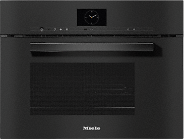 DGM 7640 - Steam oven with microwave for healthy cooking and rapid heating-up with networking and menu cooking.--Obsidian black