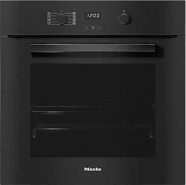 H 2860 B - Ovens with a timer and PerfectClean. --Obsidian black