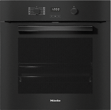 H 2860 BP - Ovens seamless design with clear text display and pyrolytic cleaning.--Obsidian black