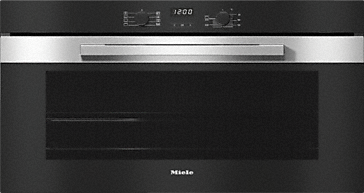 H 2890 B - 90 cm wide oven seamless design with FlexiClip telescopic runners and PerfectClean.--Stainless steel/CleanSteel