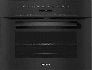 H 7240 BM - Speed oven with a seamless design, automatic programmes and combination modes.--Obsidian black