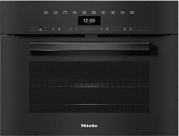 H 7440 BM - Speed oven with a seamless design, automatic programmes and combination modes.--Obsidian black