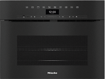 H 7440 BMX - Handleless speed oven with a seamless design, automatic programmes and combination modes.--Obsidian black