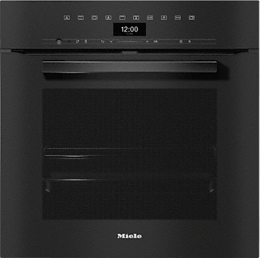 H 7464 BP - Ovens seamless design with food probe and LED lighting.--Obsidian black