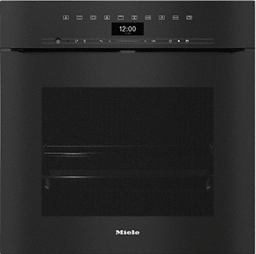 H 7464 BPX - Handleless oven seamless design with food probe and LED lighting.--Obsidian black