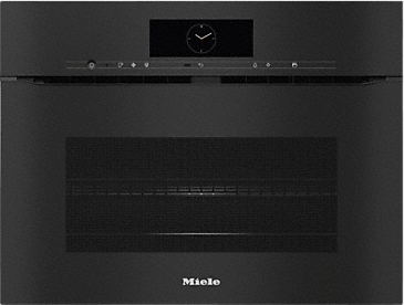H 7840 BMX - Handleless speed oven with a seamless design, Automatic programmes and food probe--Obsidian black