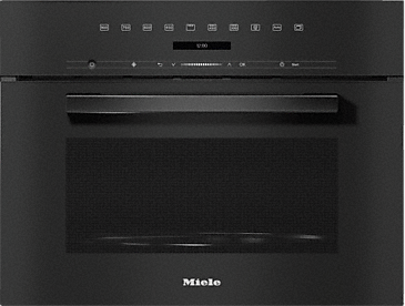 M 7244 TC - Built-in microwave oven in a design that is the perfect complement with controls on the top.--Obsidian black